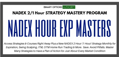 NADEX 2 Hour 1 Hour Strategic MASTERS Program with Monthly Strategy