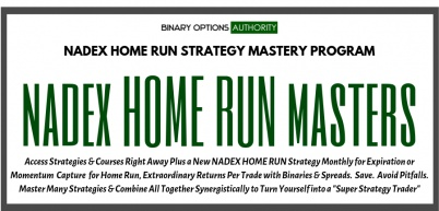 NADEX Home Run Strategic MASTERS Program with Monthly Strategy