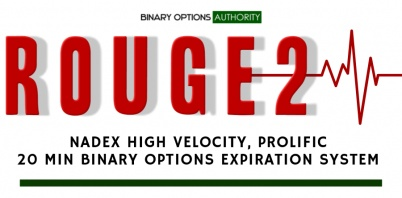 ROUGE2 NADEX High Velocity, Prolific 20 Minute Binary Options Expiration System
