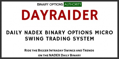 DAYRAIDER Daily NADEX Binary Options Micro Swing Trading System