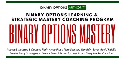 BOA's Binary Options Strategic MASTERS Program with Monthly Strategy