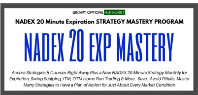 NADEX 20 Minute Expiration Strategic MASTERS Program with Monthly Strategy
