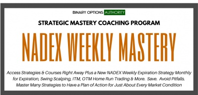 NADEX Weekly Binary Options MASTERS Program Membership