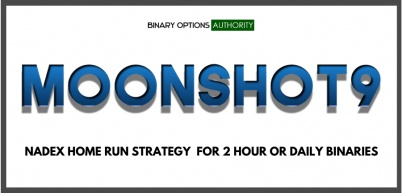 MOONSHOT9 NADEX Home Run Strategy for 2 Hour or Daily Binaries