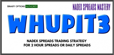 WHUPIT3 NADEX Spreads Tradading Strategy for 2 Hour and Daily Spread